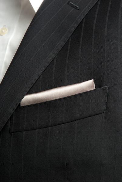 サテンポケットチーフ 37色 カーキ #33