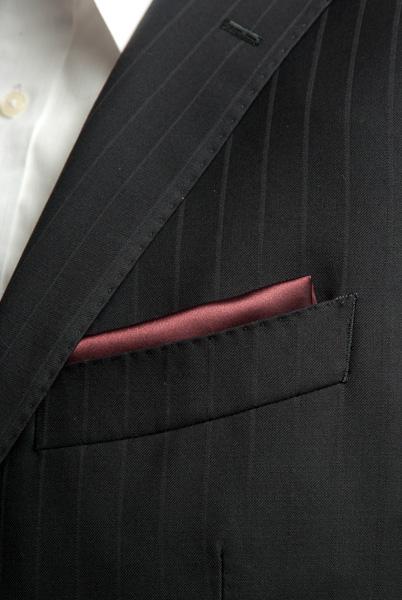 サテンポケットチーフ 37色 あずき色 #37