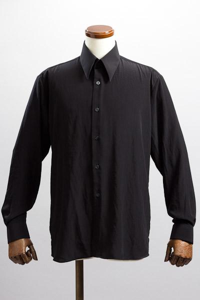 ロングポイントカラーシャツ ブラック
