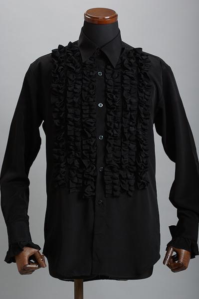 NEW6連フリルシャツブラック