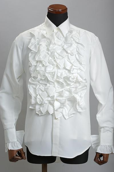 フリルシャツ 4連ホワイト