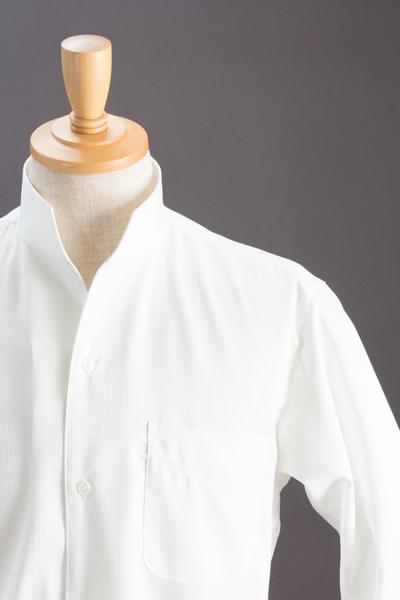 スタンドカラーシャツオープンタイプ ホワイト