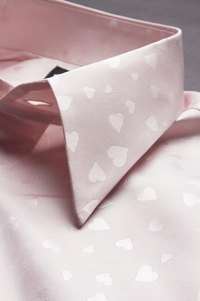 ハート柄シャツ#171 ピンク