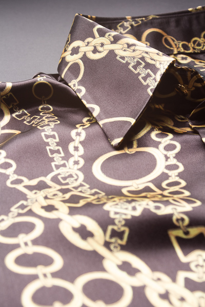 チェーン柄シャツ #0209 ベースカラー ブラック