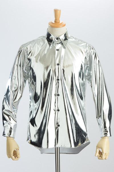 メタリックシャツシルバー #KB0002