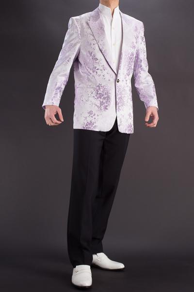 バラ織柄ジャケット #518 ライトパープル