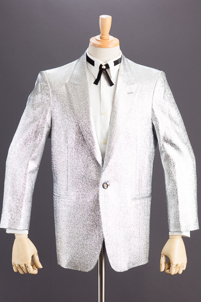 ラメジャケット ブルーホワイト