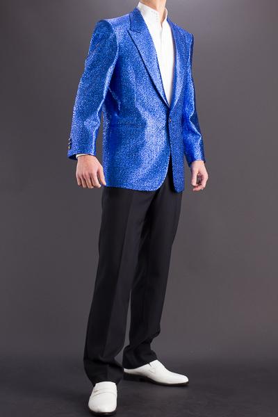 ラメジャケット  ブルー