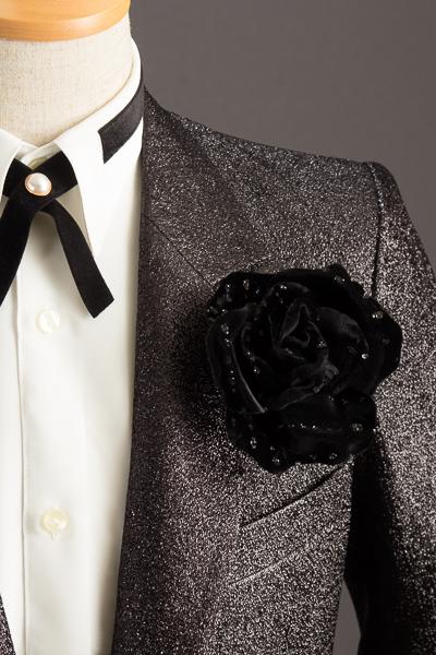 メンズコサージュ ブラック #k9001
