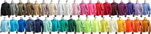 サテンシャツ・【37色】カラーシャツ!アメ横上野屋シャツ店